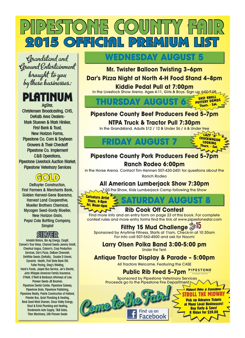 2015 Fair Premium Book | Pipestone County Star
